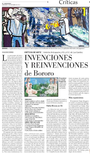 El Mercurio E11 - 19 octubre 2014, Pablo Rivera