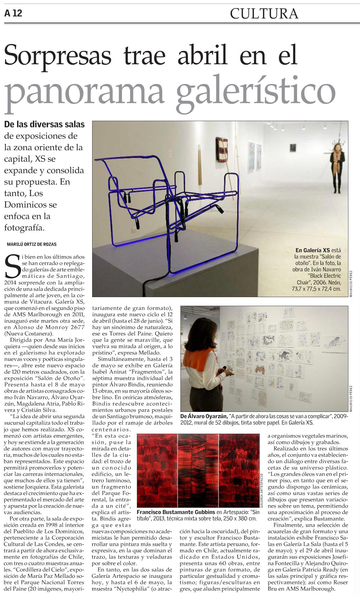 El Mercurio, jueves 10 abril 2014