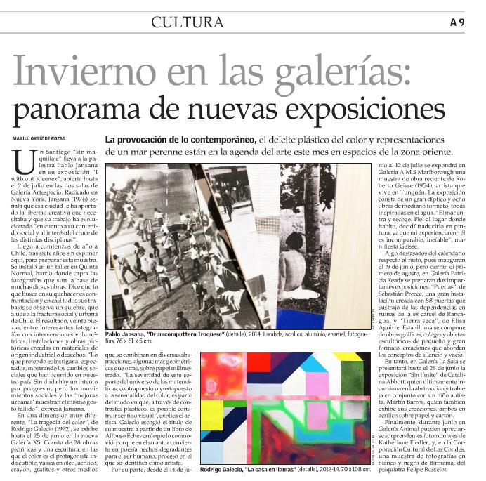 El Mercurio, lunes 09 de junio, 2014