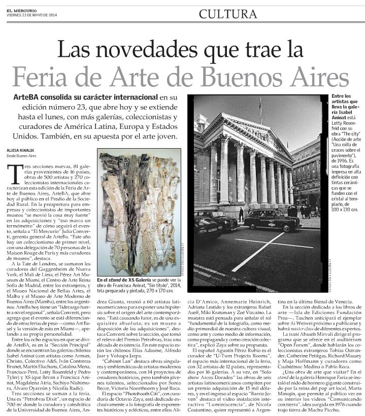 El Mercurio, viernes 23 de mayo, 2014